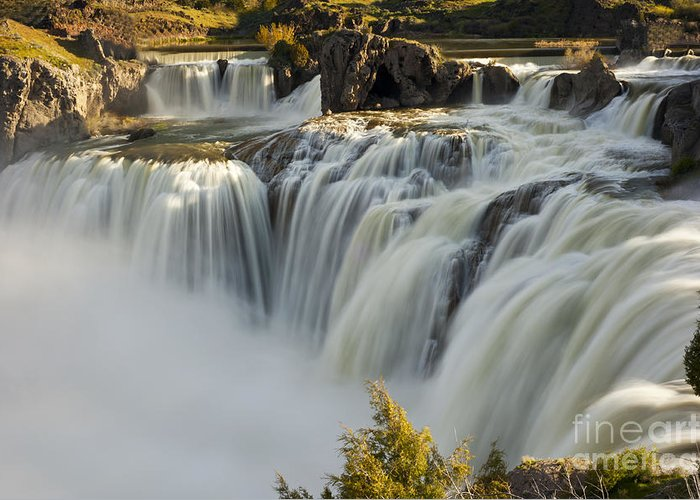 Shoshone Falls Greeting Card featuring the photograph Shoshone Falls in Spring by Dennis Hammer