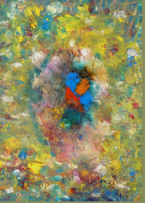 Abstract Greeting Card featuring the painting Shout by Greg Gierlowski