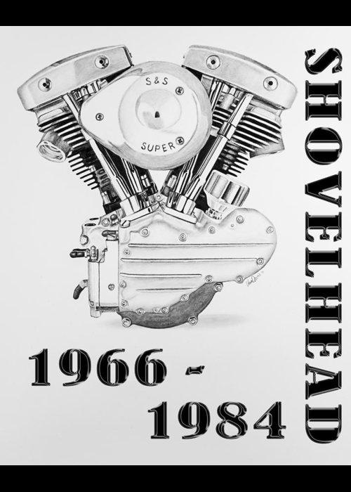 Shovelhead Harley Engine II Greeting Card