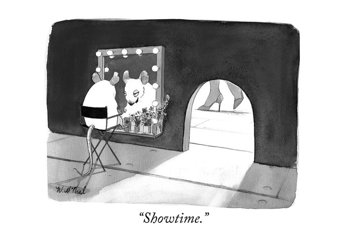 """""""showtime."""" Greeting Card featuring the photograph Showtime by Will McPhail"""