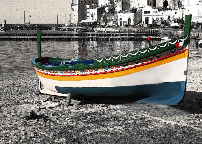 Fishing Greeting Card featuring the photograph Sicily Fishing Village by Jim Kuhlmann