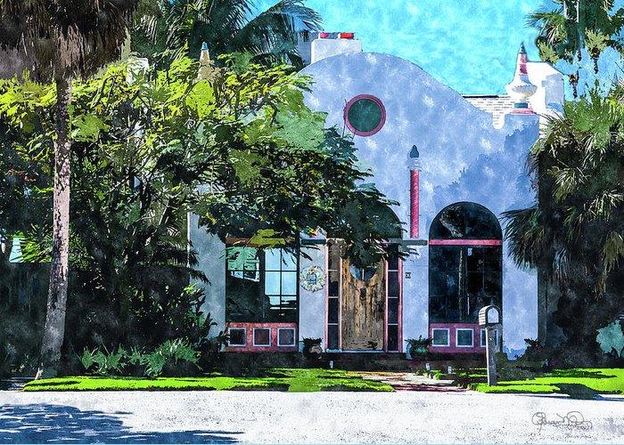 Susan Molnar Greeting Card featuring the photograph Siesta Key Beach Cottage by Susan Molnar