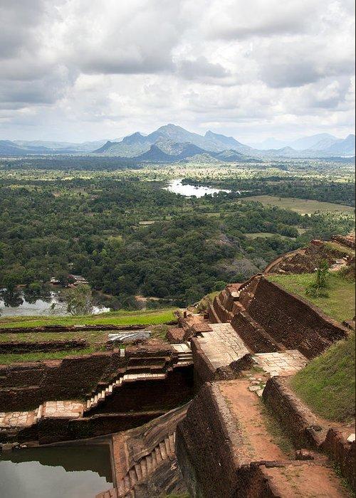 Ancient Greeting Card featuring the photograph Sigiriya Ruins by Jane Rix