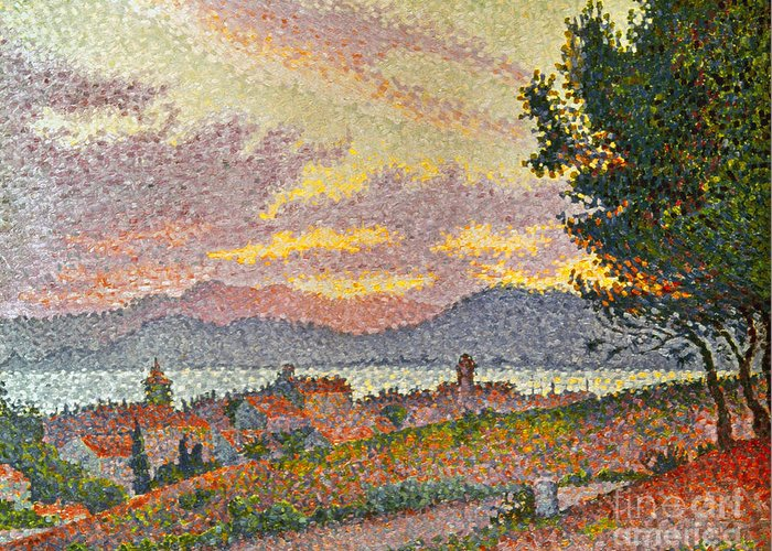 1896 Greeting Card featuring the photograph Signac: St Tropez, 1896 by Granger