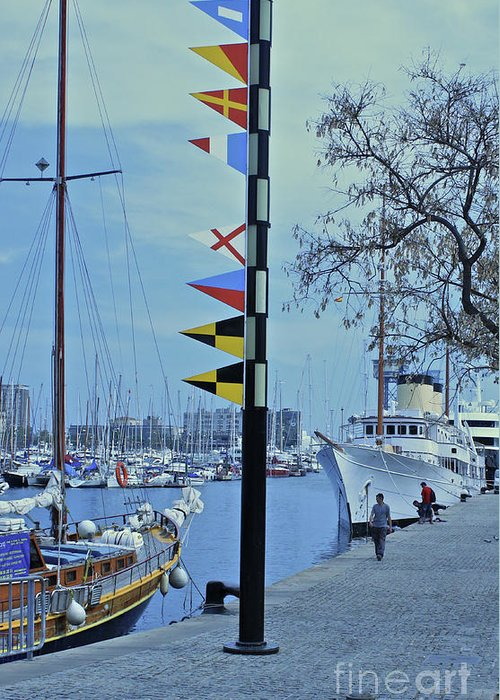 Barcelona Greeting Card featuring the photograph Signpost by David Shaffer