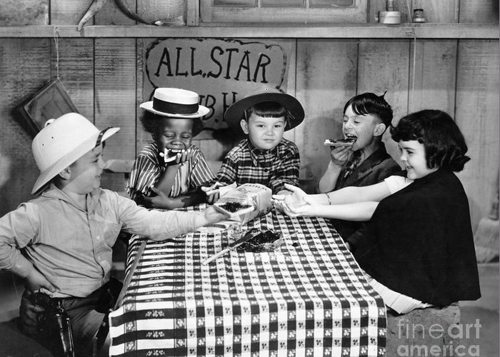 -children- Greeting Card featuring the photograph Silent Film: Little Rascals by Granger
