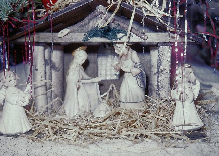 Vintage Greeting Card featuring the photograph Silent Night Holy Night by JAMART Photography