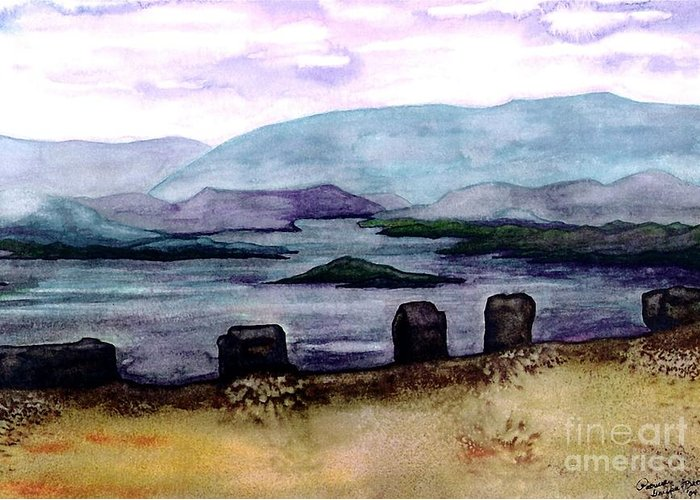 Original Painting Greeting Card featuring the painting Silent Sentinels by Patricia Griffin Brett