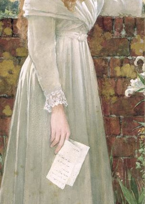 Sad Greeting Card featuring the painting Silent Sorrow by Walter Langley