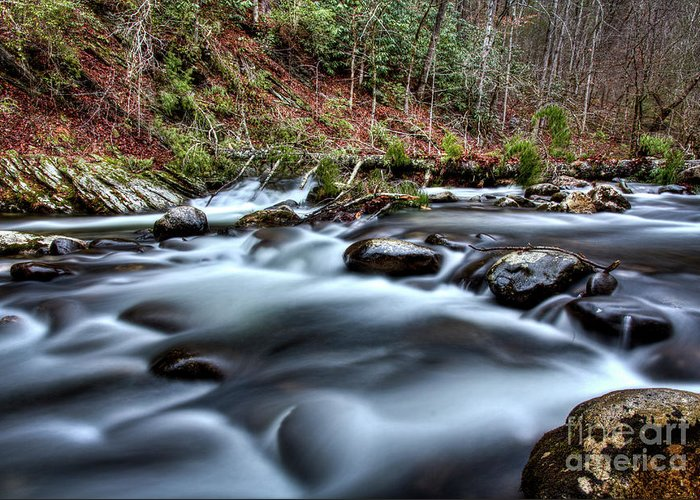 River Greeting Card featuring the photograph Silky Smooth by Douglas Stucky
