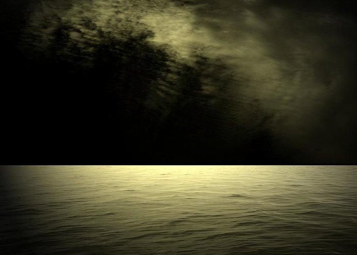 Ocean Greeting Card featuring the digital art Silver Light by Juana Maria Garcia-Domenech