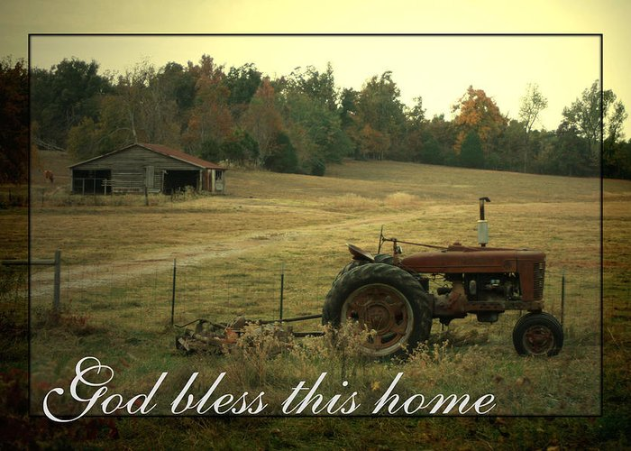 Country Life Greeting Card featuring the photograph Simple Life by Linda Fowler