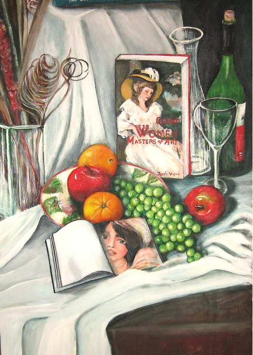 Still Life Greeting Card featuring the painting Simple Pleasures by Eileen Kasprick