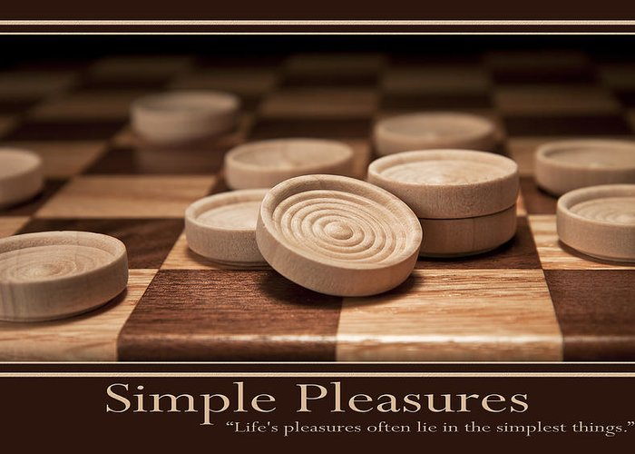 Checkers Greeting Card featuring the photograph Simple Pleasures Poster by Tom Mc Nemar