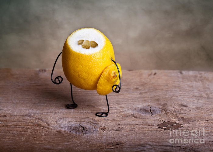 Lemon Greeting Card featuring the photograph Simple Things 12 by Nailia Schwarz