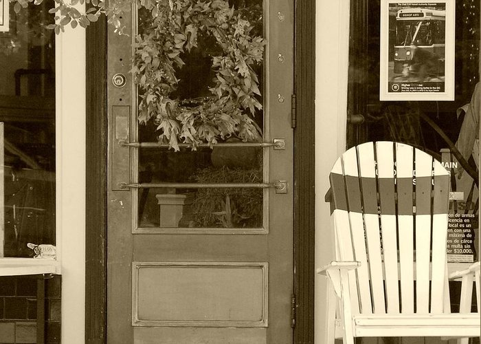 Rocking Chair Greeting Card featuring the photograph Simple Times by Debbi Granruth