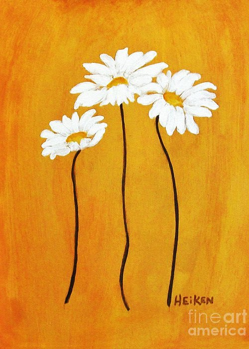 Painting Greeting Card featuring the painting Simplicity L by Marsha Heiken