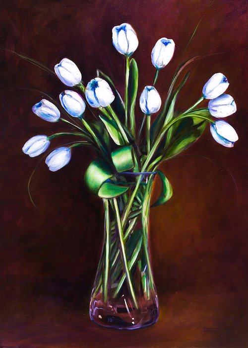 Shannon Grissom Greeting Card featuring the painting Simply Tulips by Shannon Grissom