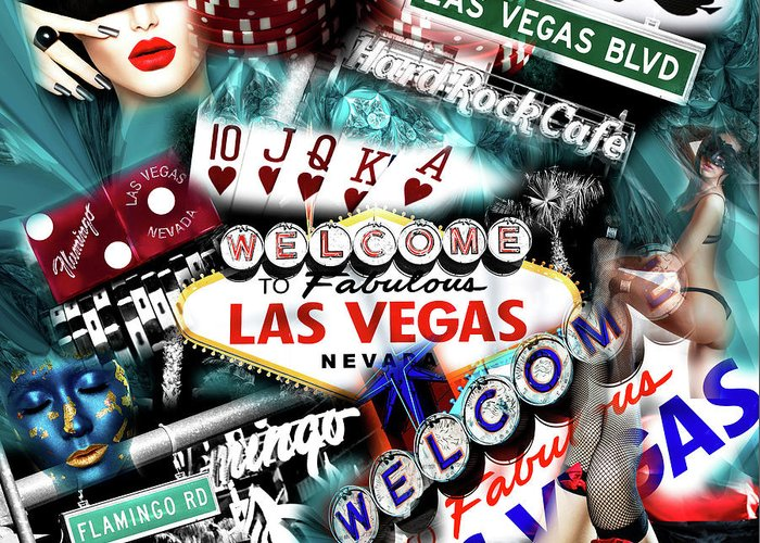 Sin City Greeting Card featuring the photograph Sin City by John Rizzuto