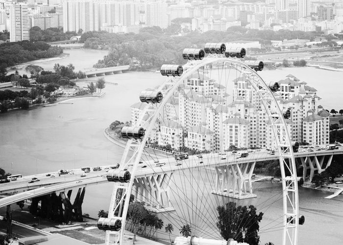 Singapore Greeting Card featuring the photograph Singapore Flyer by Nina Papiorek