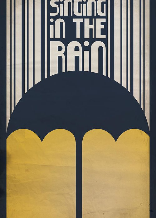 Gene Kelly Greeting Card featuring the digital art Singin' In The Rain by Megan Romo