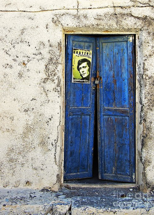 Door Greeting Card featuring the photograph Singin' The Blues by Meirion Matthias