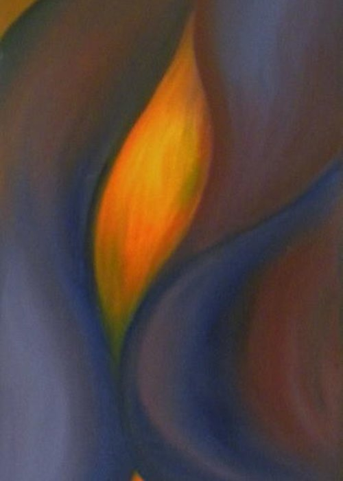 Colorfull Greeting Card featuring the painting Sinuous Curves by Fanny Diaz