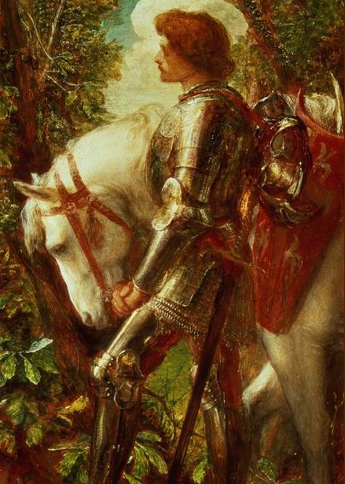 Arthur Greeting Card featuring the painting Sir Galahad by George Frederic Watts