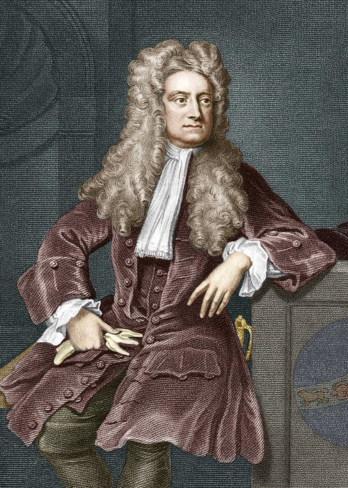 Isaac Newton Greeting Card featuring the photograph Sir Isaac Newton, British Physicist by Sheila Terry