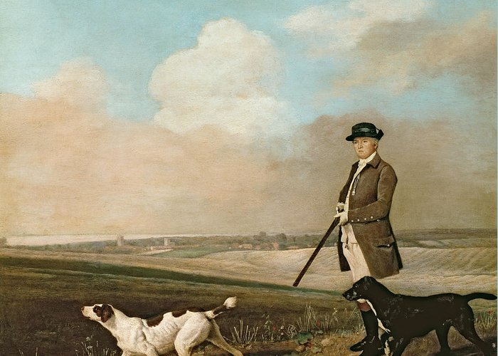 Sir Greeting Card featuring the painting Sir John Nelthorpe by George Stubbs