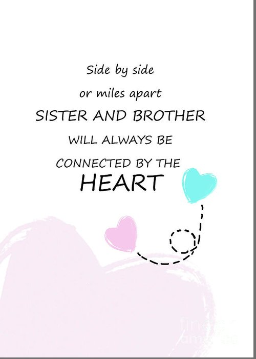 Sister And Brother Quotes 11 Greeting Card for Sale by Prar ...