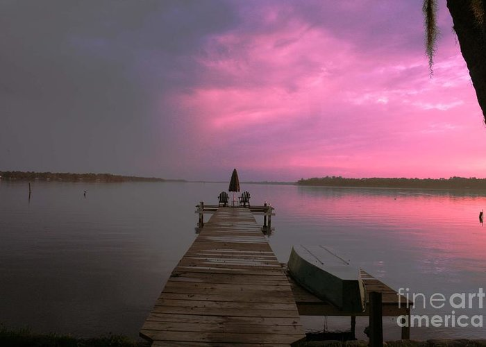 Dock Greeting Card featuring the photograph Sittin On The Dock Of The Bay by David Carter