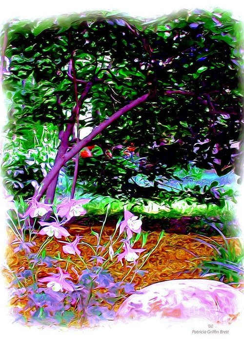 Fine Art Greeting Card featuring the painting Sitting In The Shade by Patricia Griffin Brett
