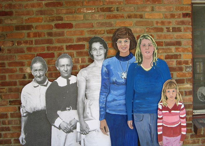 Life Size Figures Greeting Card featuring the photograph Six Generations Of Women by Betty Pieper