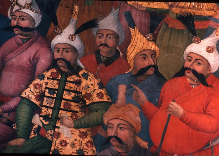 Men Greeting Card featuring the photograph Six Sultans by Carl Purcell