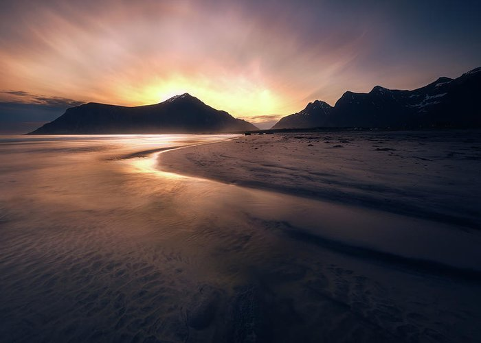 Norway Beach Greeting Cards