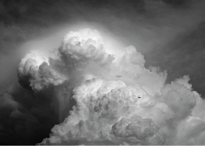 Cloud Greeting Card featuring the photograph Skirting The Storm by Porter Glendinning