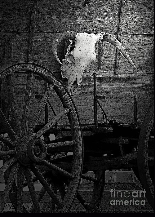 Al Bourassa Greeting Card featuring the photograph Skull And Wagon by Al Bourassa