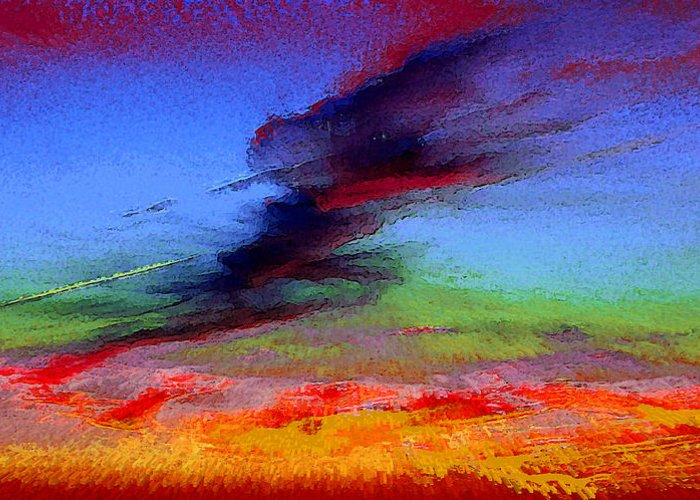 Clouds Greeting Card featuring the photograph Sky Blastin by Scott Washburn