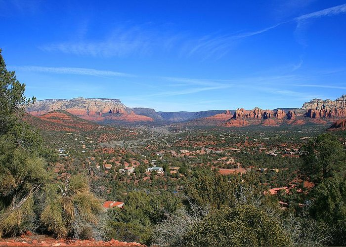 Sedona Greeting Card featuring the photograph Sky Mountain View by Gary Kaylor