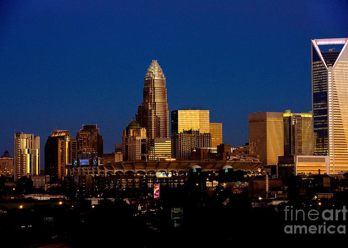 Charlotte Nc Photography Greeting Card featuring the photograph Skyline At Dusk by Patrick Schneider