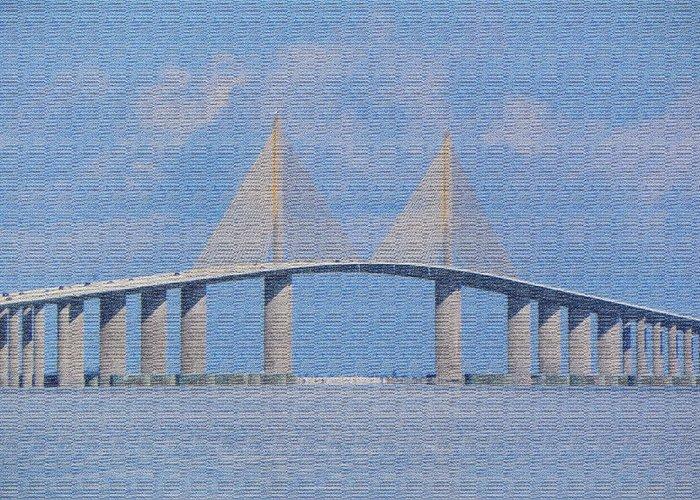 Bridge Greeting Card featuring the photograph Skyway Bridge by Rosalie Scanlon