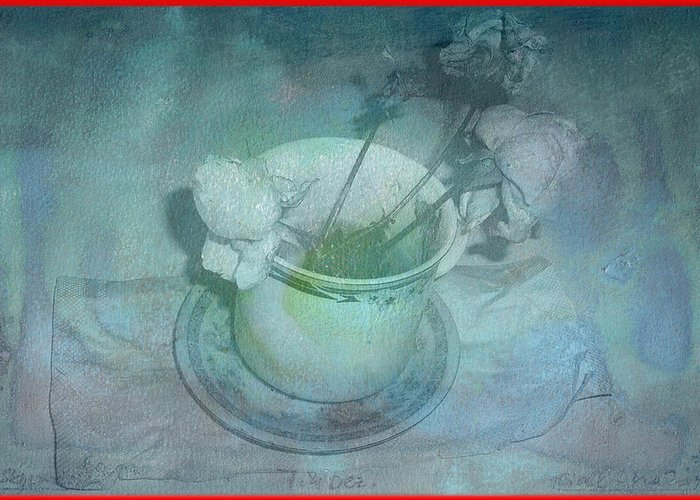 Skyworks Greeting Card featuring the digital art Skyworks 2 Rose by Friedl Aigner