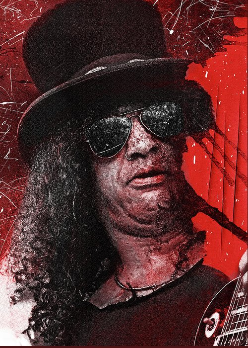 Slash Greeting Card featuring the digital art Slash by Mal Bray