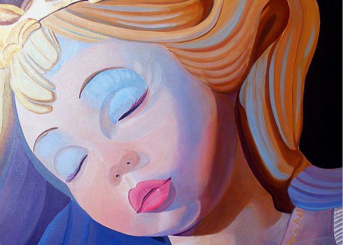 Doll Greeting Card featuring the painting Sleeping Beauty by JoeRay Kelley
