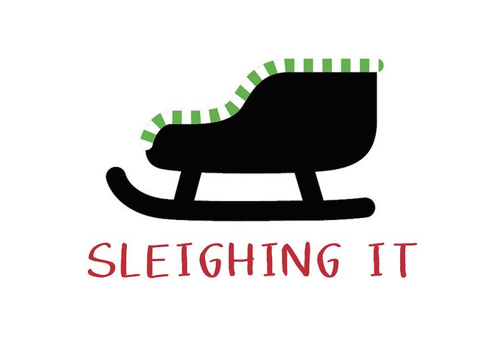 Sled Greeting Cards