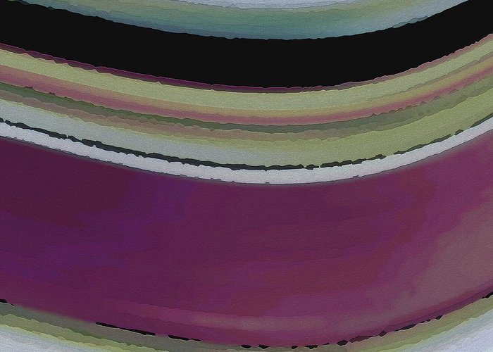 Abstract Greeting Card featuring the digital art Slight Curve by Ruth Palmer