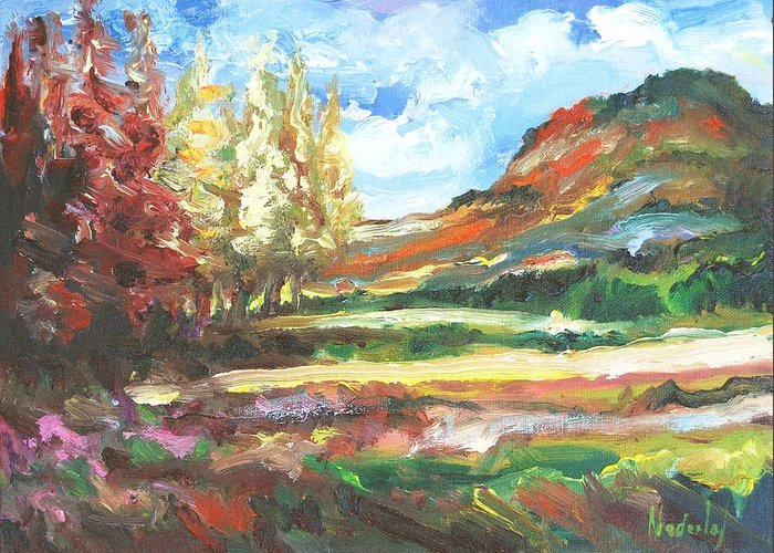 Landscape Greeting Card featuring the painting Small Work 3 by Rick Nederlof