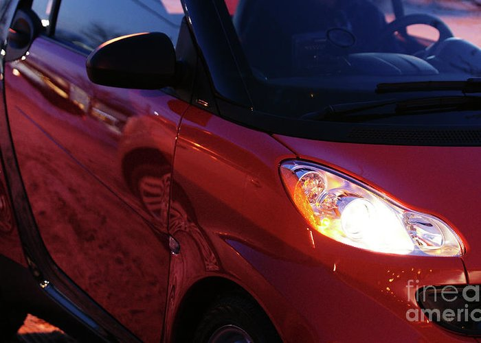 Smart Car Greeting Card featuring the photograph Smart by Linda Shafer