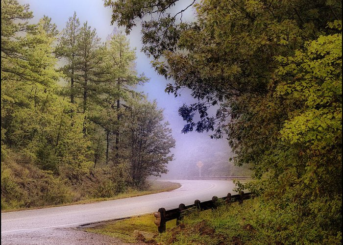 Mountain Greeting Card featuring the photograph Smokey Mountain Road by Shirley Dawson